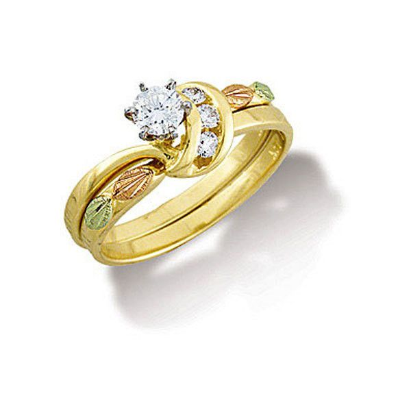 landstroms black hills gold diamond wedding set engagement ring