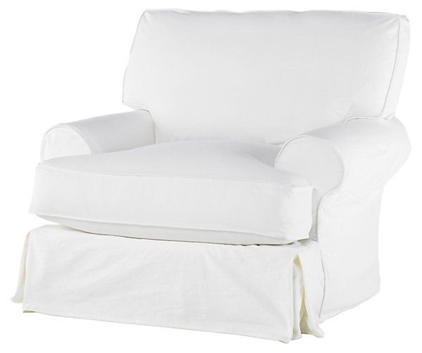 Comfy swivel chair antiqued white for White comfy chair
