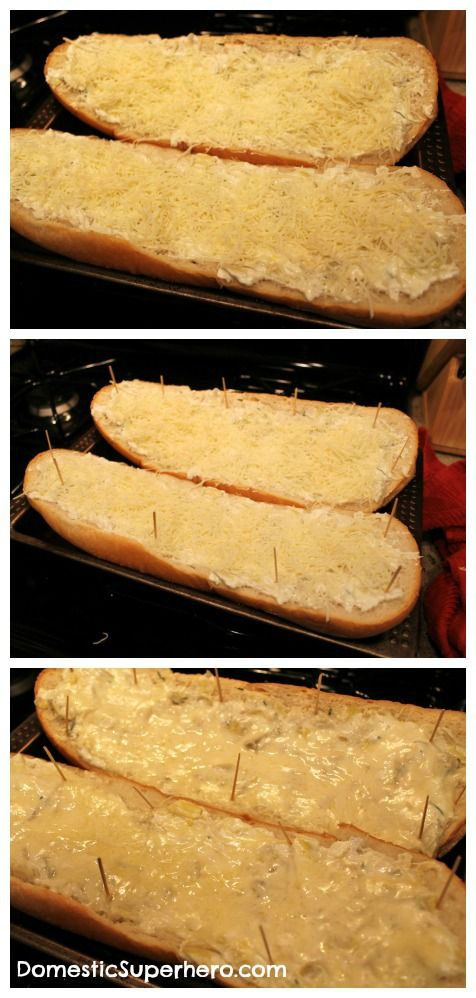 Cheesy Artichoke Bread | Domestic Superhero