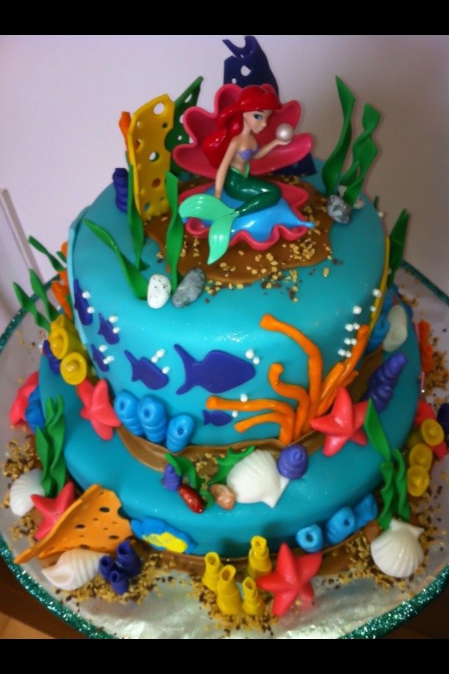 Top Of The Little Mermaid Cake Birthday Theme