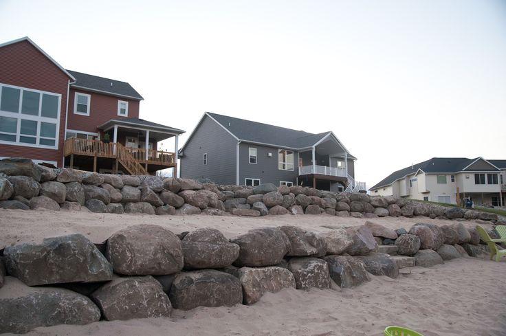 Lake front retaining wall Boathouse Pinterest