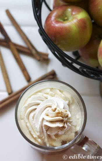 Homemade apple cider with spiced whipped cream: Edible Times