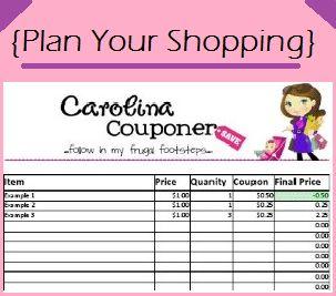 2018 coupon savings tracker spreadsheet