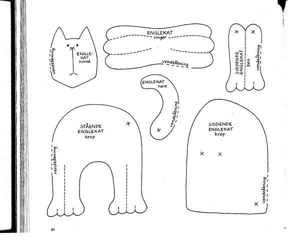 Выкройка кошки неразлучники