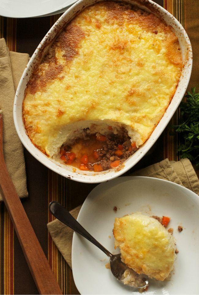 Cauliflower topped shepherds pie!. | Healthier Eating | Pinterest