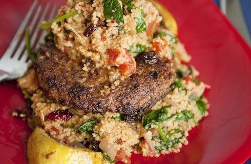 Ground turkey patties with couscous. | Yummy | Pinterest
