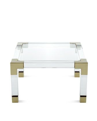 Jonathan Adler Jacques Coffee Table Horchow Lucite Brass Side