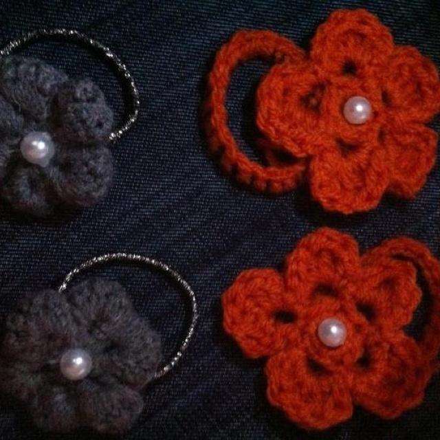 Crochet Hair Ties Pinterest : Crochet hair tie Crochet knit Pinterest
