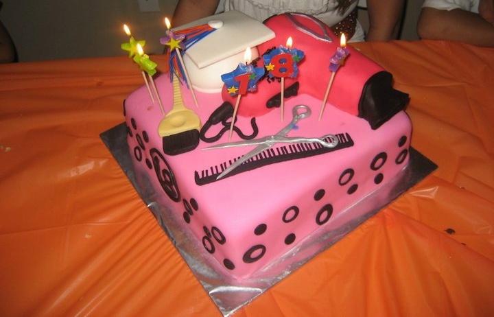 cosmetology graduation cake