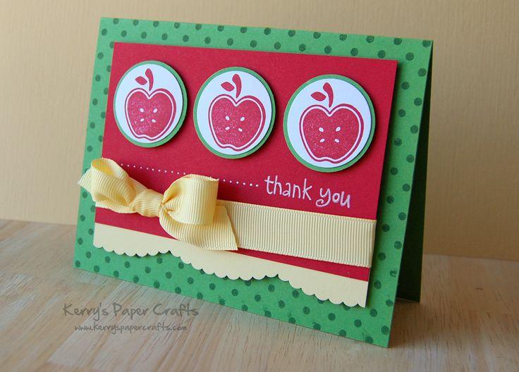 Classroom Thank You Ideas ~ Teacher thank you cricut cards pinterest
