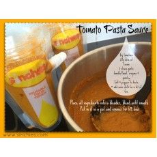 Tomato Pasta Sauce - make a big batch up and store it in your Sinchies ...