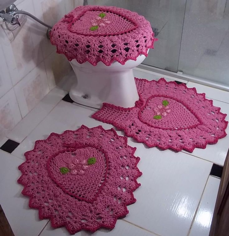 Set De Baño De Crochet:Crochet Bathroom Set