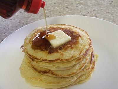 Pioneer Woman's Edna Mae's Sour Cream Pancakes. made these tonight fo...