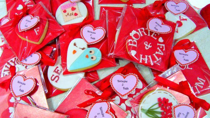 valentine's day fondant cookies