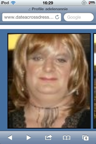 """Aunty Adele. Used to wear my Grannies undies and my Aunty Gails, but then went the """"whole hog"""" as you could say and went for the Miss Piggy look.  He makes me sick. It's not just his transvestism but he took a frontal pic of his pre pubescent 10 yo daughter and forwarded it to a cross dressing friend so I suspect cross dressing is a cover. He confessed to the police and got a caution because his computers had already been destroyed and were gone. All he had was his smart phone."""