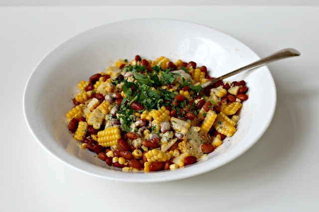 Milk and Honey: Succotash with Creamy Barbecue Lime Dressing