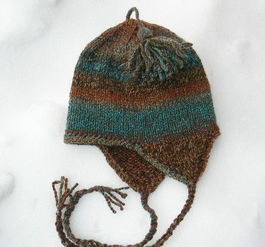 Earflap hat patterns to knit and crochet with pictures