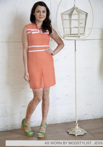 Not an orange fan, but when it's a dress this cute...