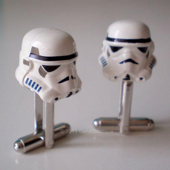 mens nylon wallets Star Wars Cufflinks  LEGO Stormtrooper Helmet Silver Cufflinks