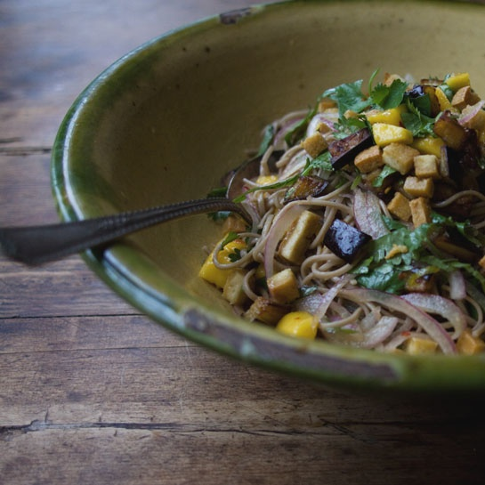 Ottolenghi Soba Noodles with Aubergine and Mango -- (adapted from ...
