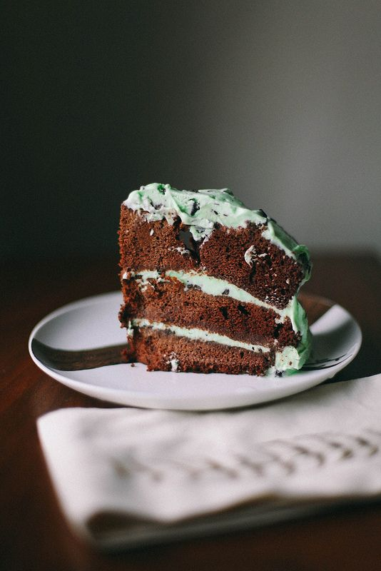 Mint Chip Ice Cream Cake. John would die for this.