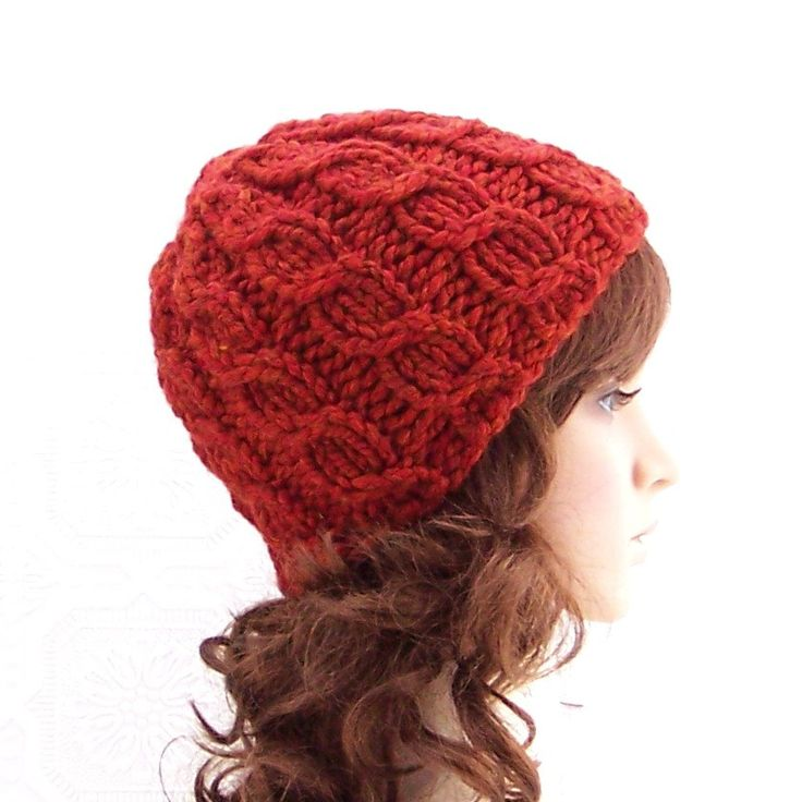 Knitting hat pattern - Simple Cable Beanie - handmade Winter Fashion ...