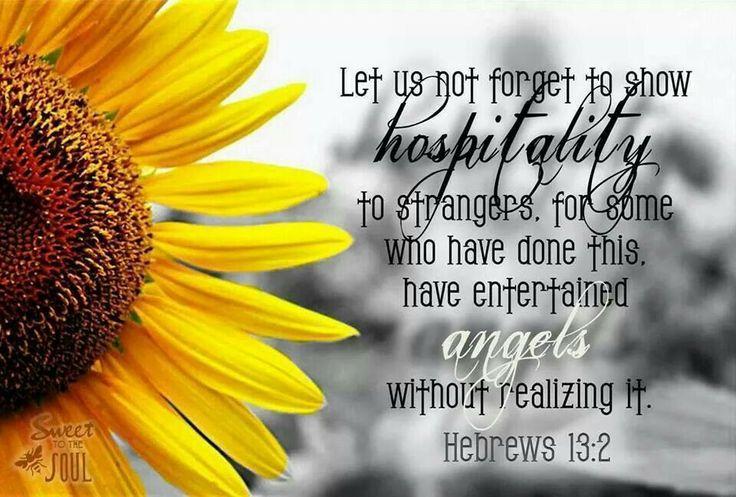 Biblical Hospitality Quotes. QuotesGram