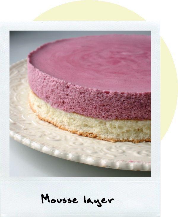 Lemon Blackberry Mousse Sponge Cake. Could skip the lemon glaze, add ...
