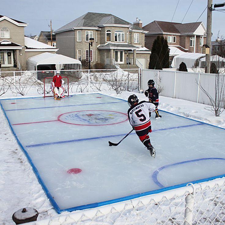 Backyard Rink Ideas : backyard ice rink  Landscaping  Pinterest