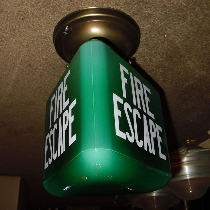 Fire Escape Ceiling Light Fixture