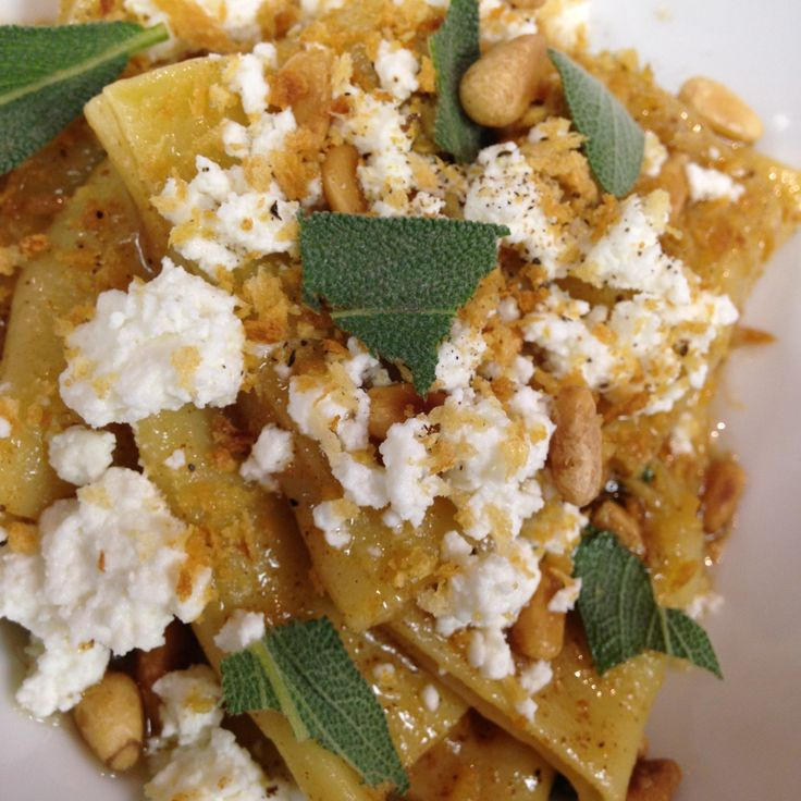 SWEET POTATO ANGLONOTTI pasta with sage, house made ricotta, pine nuts ...
