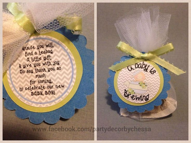 baby shower favor tea party theme a baby is brewing poem tag
