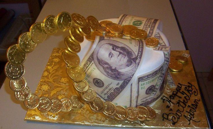 Birthday Money cake  Coin Cakes & Cookies  Pinterest
