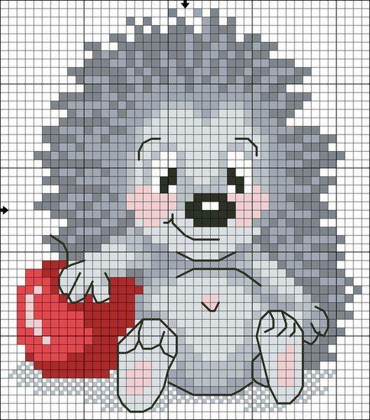 Рисунок для вязания спицами ежики 79