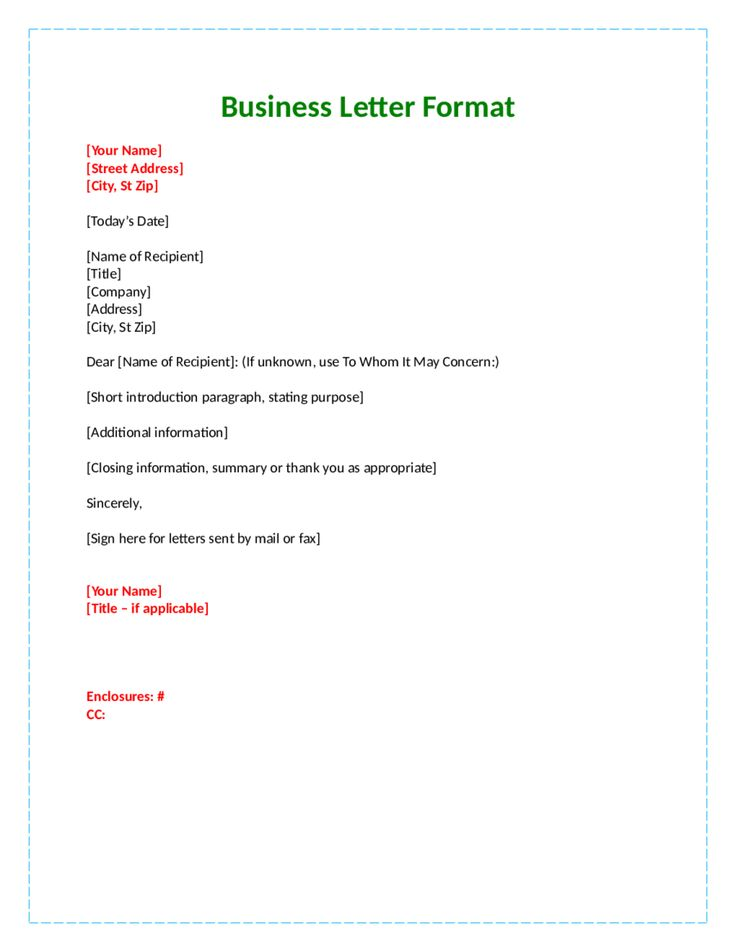 Formal letter format dear lesson 2 business letters parts and formats ppt download spiritdancerdesigns