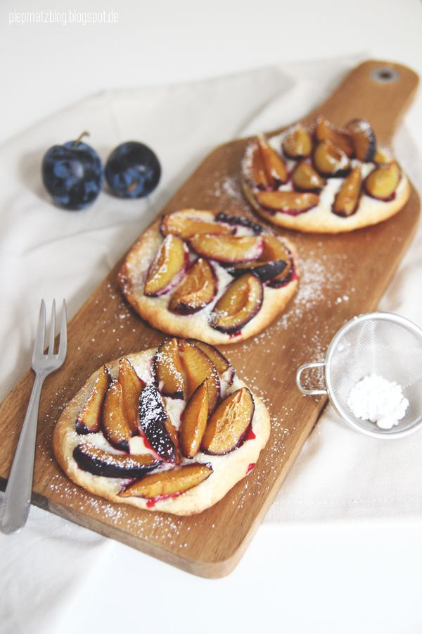plum & mascarpone tarts | Sweet | Pinterest