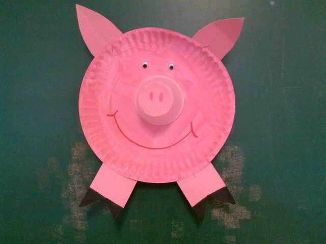 Paper plate pig | Birthday decor | Pinterest