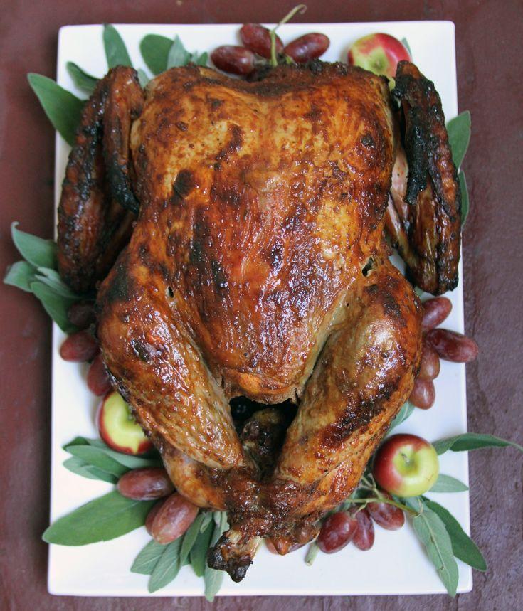 Bourbon-Glazed, Spice-Rubbed Turkey | Recipe
