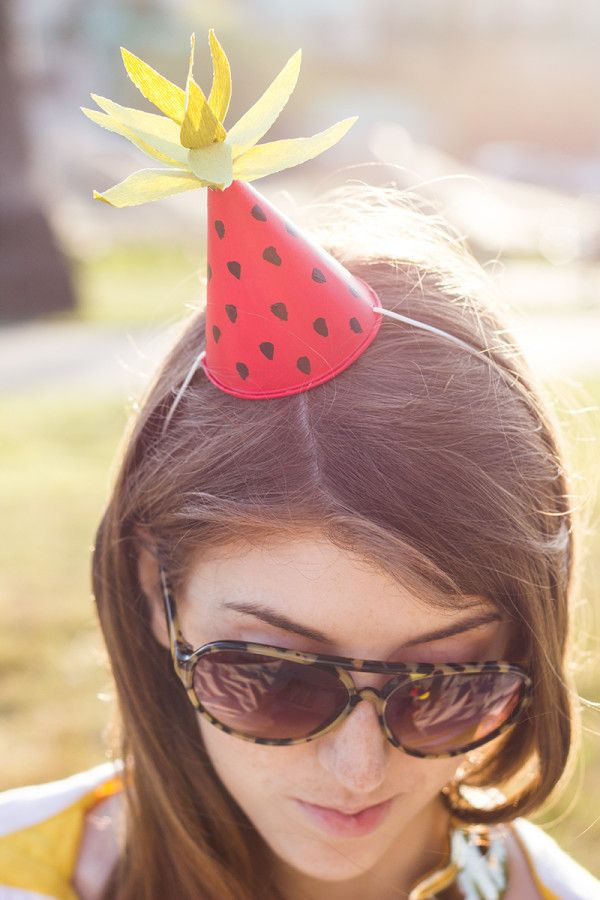 DIY Fruit-Inspired Mini Party Hats | Party Hats! | Pinterest