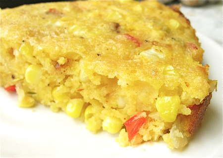 Sopa Paraguaya. I would take out the peppers for myself. But if other ...
