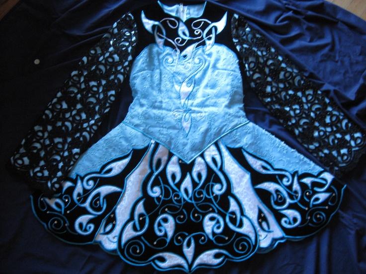 My solo dress is blue!