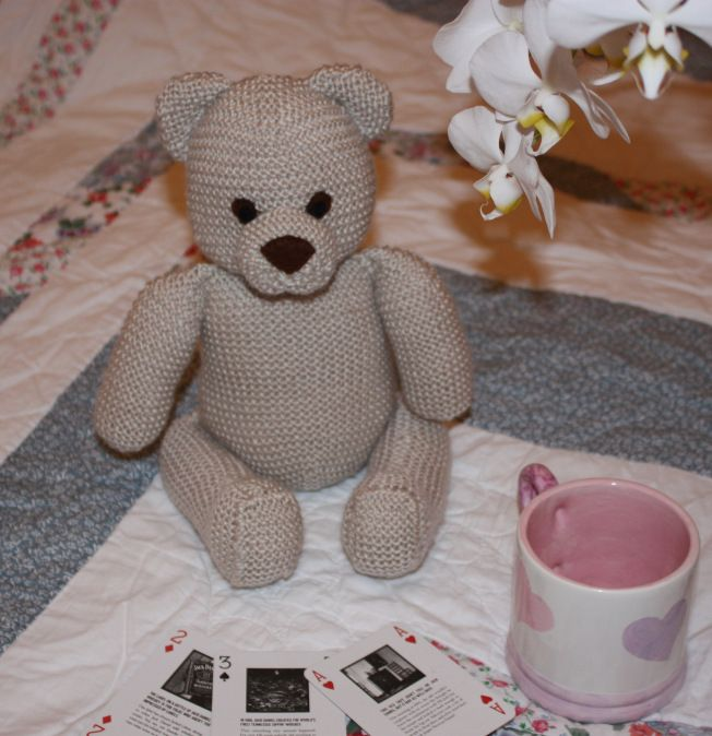 Knitted Teddy Bear Dishcloth Pattern : Knit Teddy Bear knit / crochet Pinterest