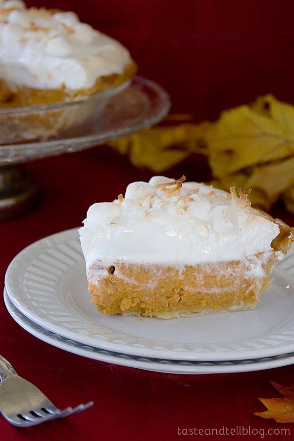 Sweet Potato Coconut Pie with Marshmallow Meringue | Recipe