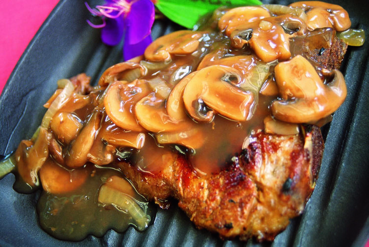 Low Fat Steak With Mushroom Sauce From Simply Too Good To Be True
