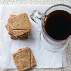 Chocolate Espresso Bean Shortbread | Cookies | Pinterest