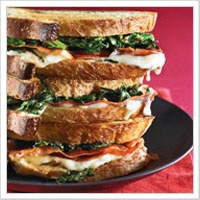 Mozzarella with Crispy Prosciutto and Broccoli Rabe
