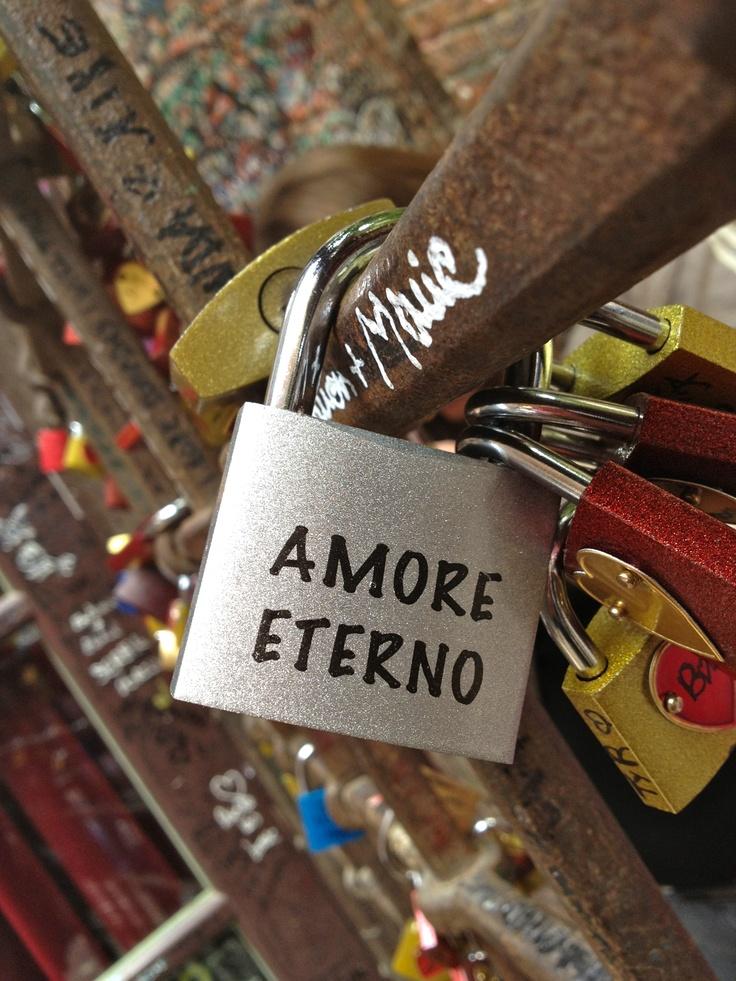 Locks of love in the house of juliet in verona