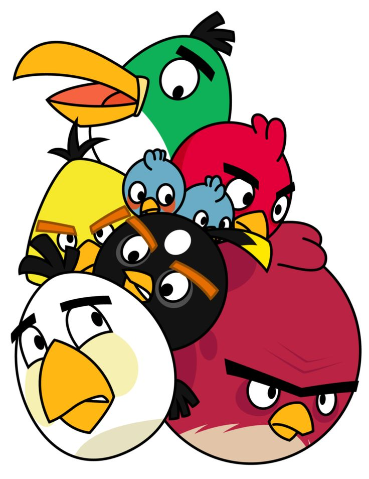 Angry bird drawing games