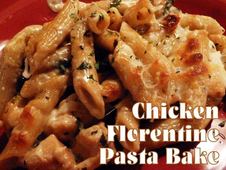 Chicken Florentine Pasta Bake | www.jillskitchenkc.com | Pinterest