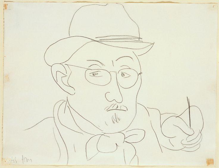 Line Drawing Matisse : Henri matisse self portrait pinterest